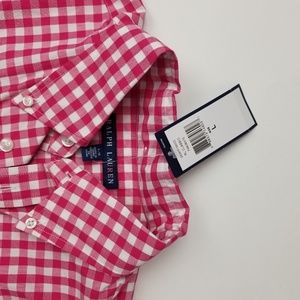Ralph Lauren gingham long sleeve button up NWT